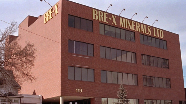 The former office of Bre-x Minerals Ltd. in Calgary