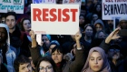 Protesters rally to oppose Donald Trump's executive order barring people from certain Muslim nations