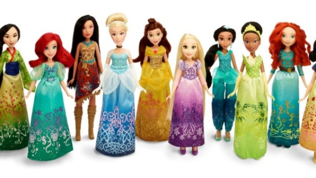 Disney Princess Royal Shimmer Dolls are seen in this undated handout photo provided by Hasbro.