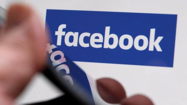 The Facebook logo is displayed on their website in an illustration photo taken in Bordeaux, France