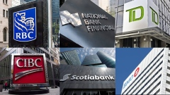 Royal Bank RBC, National Bank, TD Bank, CIBC, Scotiabank, Bank of Montreal BMO