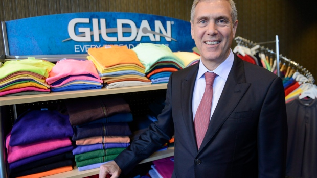 Gildan Activewear Inc. president and CEO Glenn Chamandy following an annual meeting in Montreal