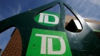 Toronto-Dominion Bank (TD) logos are seen outside of a branch in Ottawa, Ontario