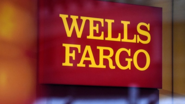 Wells Fargo logo in New York City