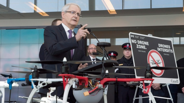 Transport Minister Marc Garneau announces new safety restrictions on recreational drones
