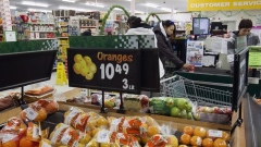 Prices are displayed for oranges at a store in Atawapiskat, Ontario