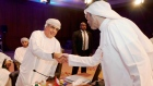Oman Oil Minister Mohammed bin Hamad Al Rumhy and a representive of Kuwait Oil Company