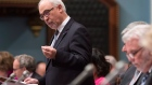 Quebec Finance Minister Carlos Leitao presents the budget speech, Tuesday, March 28, 2017