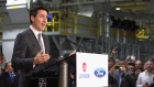 Justin Trudeau speaks at the Ford Essex Engine Plant in Windsor, Ont. on Thursday, March 30, 2017.