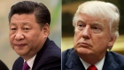 U.S. President Donald Trump, right, and China's President Xi Jinping.