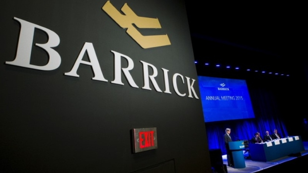 Barrick Gold Corp Chairman Thornton speaks during their annual general meeting for shareholders in Toronto