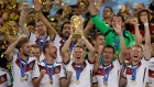 Germany hoists the Jules Rimet Trophy after winning the 2014 FIFA World Cup