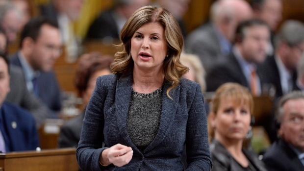 Interim Conservative Leader Rona Ambrose rises in the House of Commons