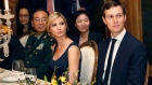 Ivanka Trump and Jared Kushner at a dinner with Chinese President Xi Jinping April 6 in Mar-a-Lago.
