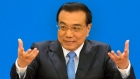 Chinese Premier Li Keqiang speaks at a press conference in Beijing