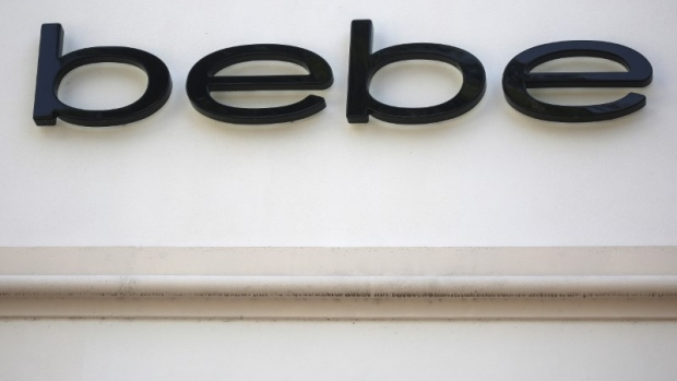 A Bebe store logo is pictured on a building along the Lincoln Road Mall in Miami Beach, Florida.