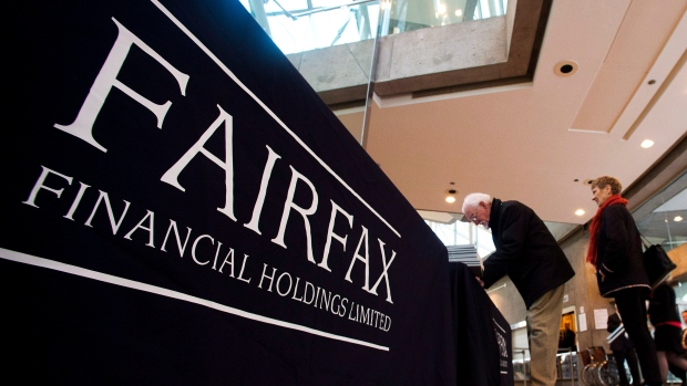 Shareholders attend the Fairfax Financial Holdings annual general meeting in Toronto