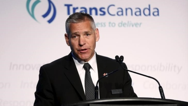 President and CEO Russ Girling of TransCanada addresses shareholders.