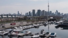 A general view of the waterfront area near Toronto's Ontario Place,