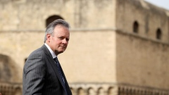 Governor of the Bank of Canada Stephen S. Poloz leaves the G7 for Financial ministers meeting in the southern Italian city of Bari