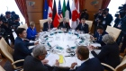 World leaders take part in a G7 Working Luncheon at the G7 Summit in Taromina, Italy.