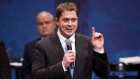 Andrew Scheer speaks during the Conservative leadership debate at the Maclab Theatre in Edmonton