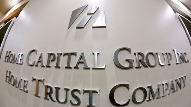 FILE PHOTO - The Home Capital Group's headquarters in Toronto
