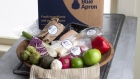 A Blue Apron home-delivered meal kit