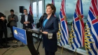Christy Clark speaks during a news conference in Vancouver, B.C., on Tuesday May 30, 2017.