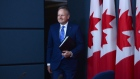 Stephen Poloz, Governor of the Bank of Canada, holds a press conference in Ottawa