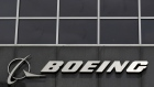 The Boeing logo is seen at their headquarters in Chicago, April 24, 2013.