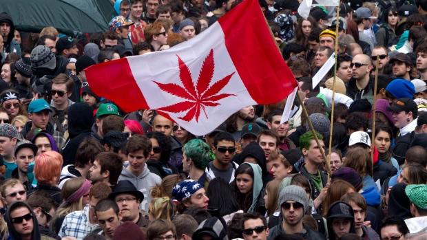 Marijuana canadian canada flag cannabis