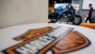 A Harley-Davidson bike is displayed in their head office in Singapore October 13, 2016.