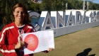 Olympic gold medallist Catriona LeMay Doan poses as a #Canada150 ambassador