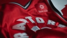 A Toronto Raptors jersey with Sun Life Financial sponsor's patch