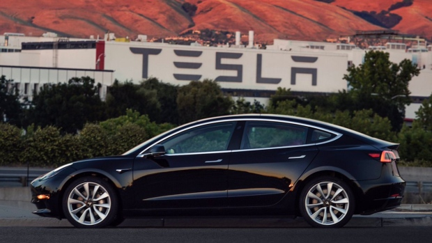 Tesla Model 3 comes off the assembly line