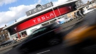 A Tesla car showroom is seen in west London, Britain, March 21, 2017