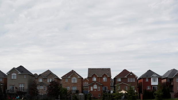 Houses back onto a park in Vaughan, a suburb with an active real estate market, in Toronto