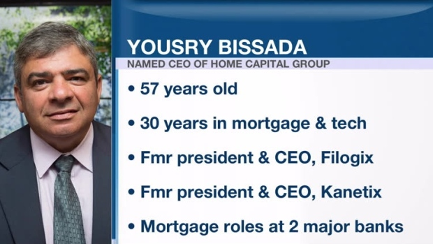 Home Capital CEO search ends as company picks Yousry Bissada