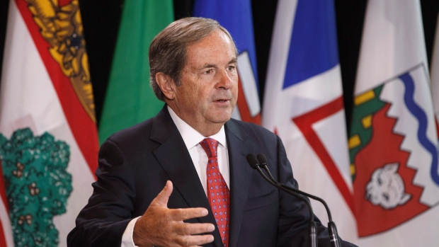Canada's ambassador to the U.S. David MacNaughton speaks during a press conference