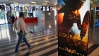 a poster promoting the movie Wonder Woman is seen at a cinema in downtown Beirut, Lebanon, Tuesday,