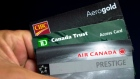 Cards from CIBC, TD Bank and Aeroplan as shown Thursday, June 27, 2013 in Montreal.  Aimia
