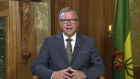 Saskatchewan Premier Brad Wall as he speaks with BNN on the day of his retirement announcement