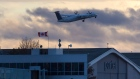 A Porter Airlines jet takes off at Toronto's Billy Bishop airport