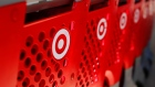 FILE PHOTO -  Shopping carts from a Target store are lined up in Encinitas
