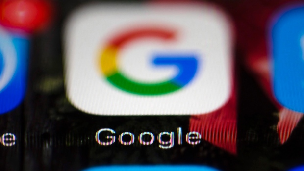 This Wednesday, April 26, 2017, photo shows a Google icon on a mobile phone, in Philadelphia.