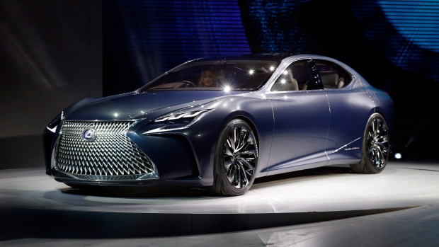 The Lexus LF-FC makes its North American debut at the North American International Auto Show