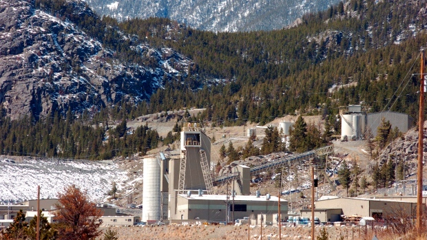 This photo shows the Stillwater Mining Company, the only platinum and palladium mine in the US
