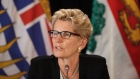Ontario Premier Kathleen Wynne speaks during the final press conference at the Council of Federation