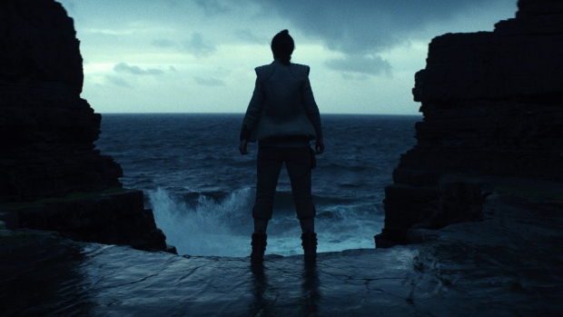 "This image released by Lucasfilm shows a scene from the upcoming ""Star Wars: The Last Jedi,"""